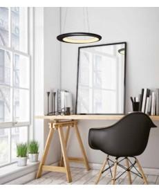 Pendente Led 30w Alumínio  E Ferro Design Moderno Circular
