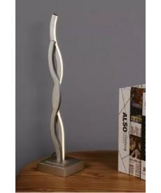 Abajur Led - 14w Prata - Curvas Design Mesa