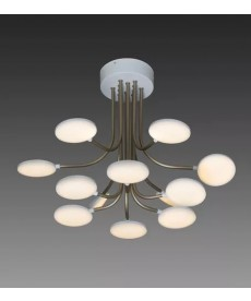 Lustre Led Alumínio 38w  - Design Esferas